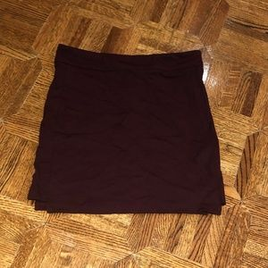 Soft Purple Jersey Bodycon Mini Skirt